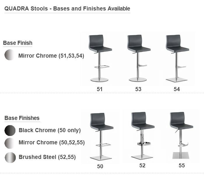Fabulous Quadra 2 Adjustable Barstool Real Leather Or Eco Leather Bralicious Painted Fabric Chair Ideas Braliciousco